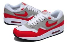 616dd38cfb Nike Air Maxim 1 OG Colorway White Sport Red Grey 366488 161 Sz 12.5 ...