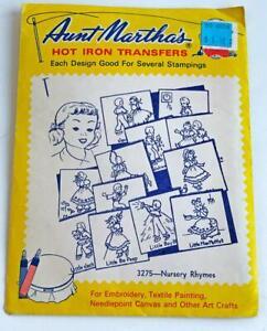 Aunt-Marthas-Hot-Iron-Transfers-Pattern-Nursery-Rhymes-3275-Vintage