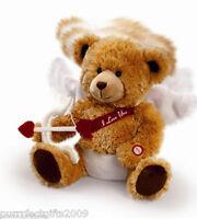 Musical Cupid Bear By;russ Berrie Moves Head Flutters Wings & sings Cupid