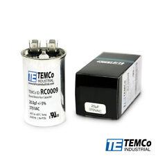 Temco 20 Ufmfd 370 Vac Volts Round Run Capacitor 5060 Hz Lot 1