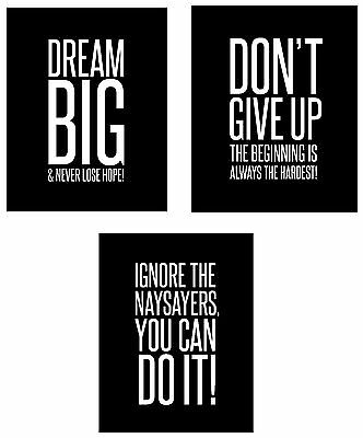Youth Soccer IT/'S HOW BIG YOU PLAY Motivational Inspirational Poster Print