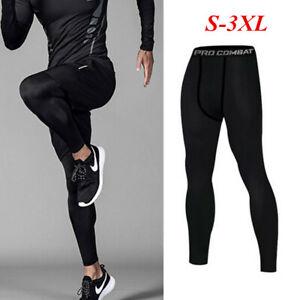 Pantalones-de-compresion-Capa-Base-Bajo-Hombres-Ropa-Deportiva-Largo-Legging-Entrenamiento-Gimnasio