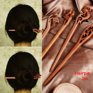 Women-039-s-Retro-Ethnic-Wooden-Handmade-Carved-Hair-Stick-Pin-Hair-Styling-Tools