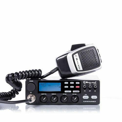 12 Volt 24 Volt Duel Voltage CB Radio - Midland Alan 48 Pro Multi