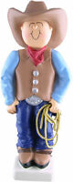 Western Cowboy Hand-painted Christmas Ornament, 5 Tall, Ornament Central
