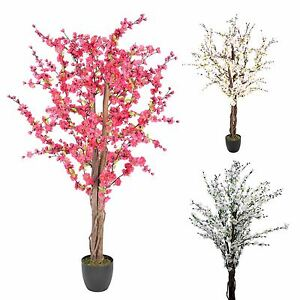 Image Is Loading Artificial Blossom Tree Cerise Pink And Cream