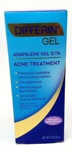 Differin Adapalene Gel 0 1 Acne Treatment 1 6 Oz 7 21