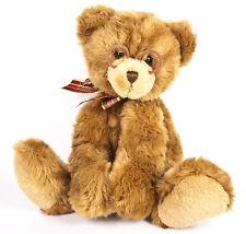 "Gund Booker Teddy Bear 16"" Plush Brown Stuffed Animal Glasses Red Ribbon 44406"
