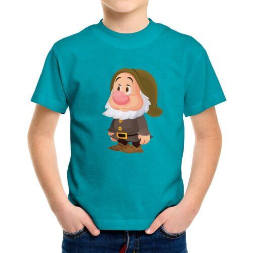Snow White Seven Dwarfs Sneezy Disney Boys Kids Youth Teen Crew Neck Tee T-Shirt