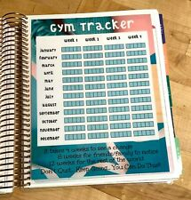 Gym Fitness Exercise Tracker Dashboard Insert for use with Erin Condren Planner