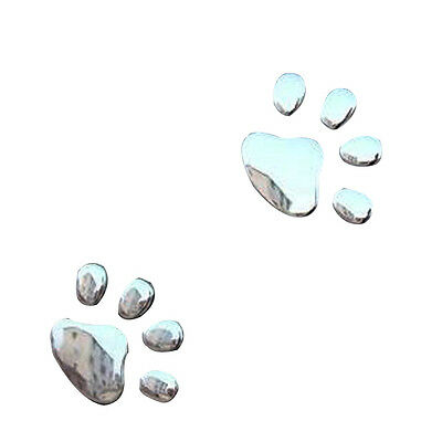 Car Sticker 3D Dog Bear Footprints Chrome Badge Emblem Car Sticker Decal