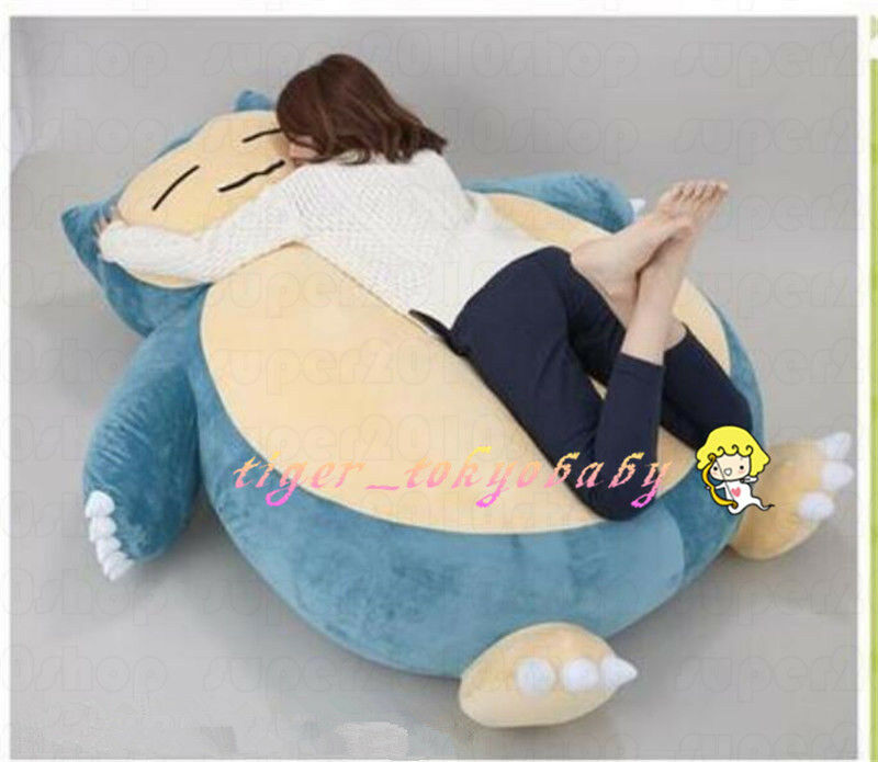 59    anime Huge Snorlax Plush Zipper Cover Kabigon Doll Filled Bed Kid's Gift A 595686