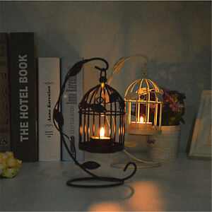 Http Www Ebay Com Itm Metal Hollow Candle Holder Bird Cage Shape Leaves Pattern Candlestick Home Decor 122244791966