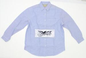NWT-Eagle-Dry-Goods-Womens-Long-Sleeve-Button-Down-Oxford-Shirt-Light-Blue-Large