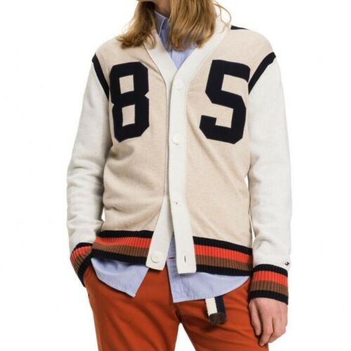 TOMMY HILFIGER  Men/'s Varsity Cardigan Sweater Jacket