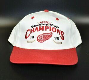 Detroit-Red-Wings-1998-NHL-Stanley-Cup-Champions-Adjustable-Snapback-Cap-Hat