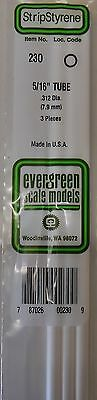 "Evergreen Strip Styrene 230 3 Pieces Of 5/16"" Tube."
