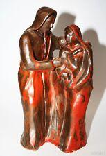 Keramikfigur Maria mit Josef und Jesuskind - Ambach Starnberger See