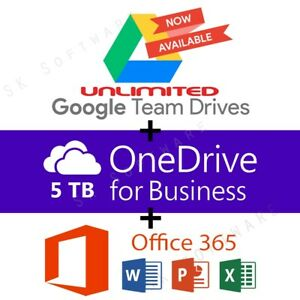 Details about Google Drive Unlimited added to your Account 5 Quantity +  OneDrive 5TB + Office