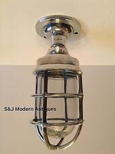 Industrial Bulkhead Wall Light Vintage Antique Retro Cage Ship Lamps Aluminium