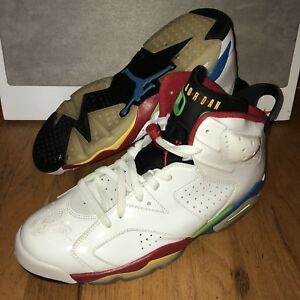 e8554a16b29 Air Jordan VI Retro 6 Olympic Beijing Mens Shoes Size 11 VNDS White ...