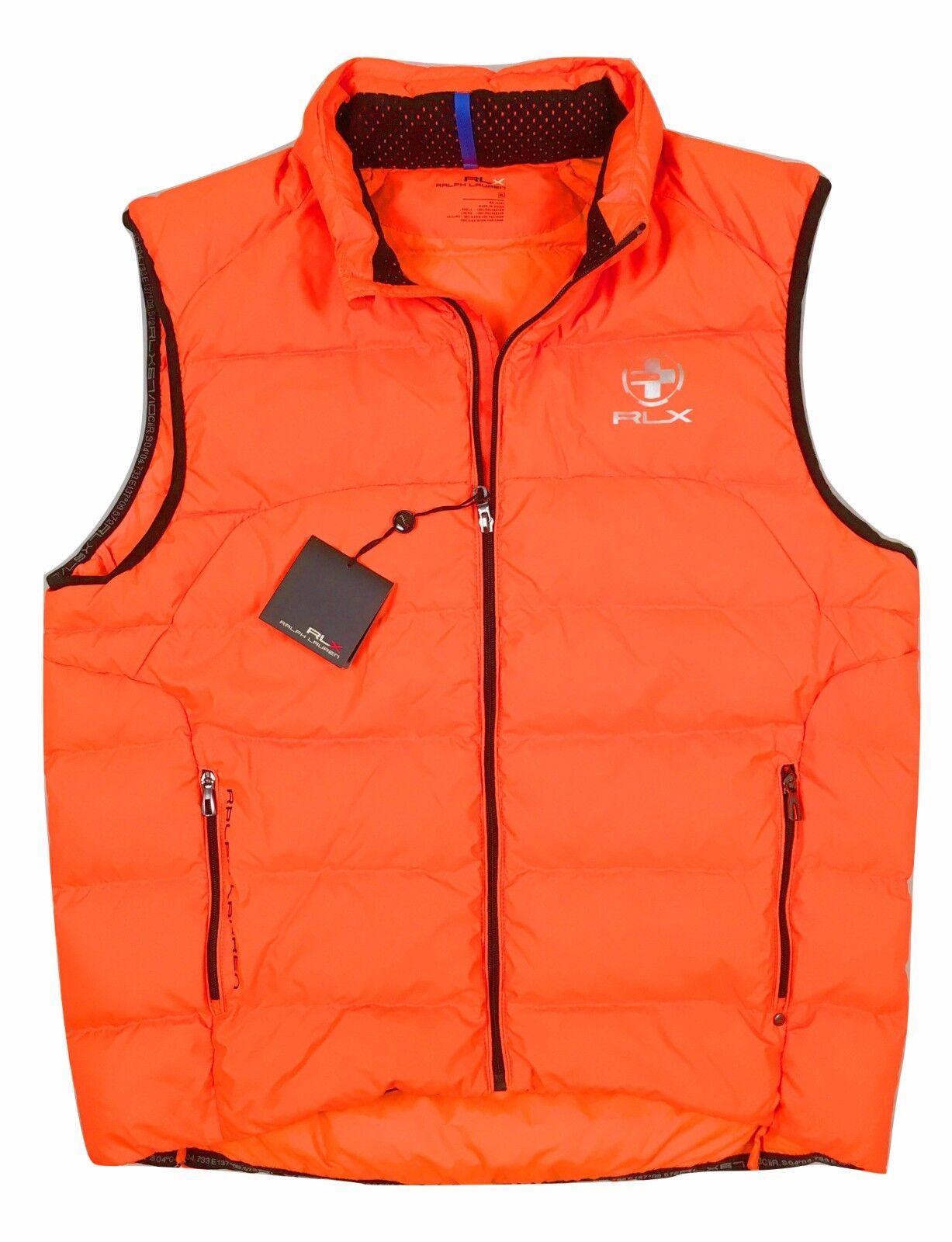 NEW 185 Ralph Lauren RLX Puffer Down Vest    Bright Grün or Bright Orange