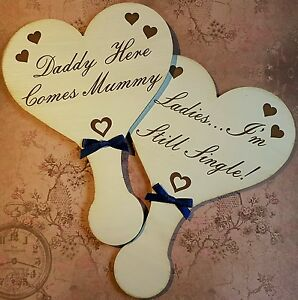 Wedding-signs-page-boy-flower-girl-hand-made-engraved-ANY-WORDING