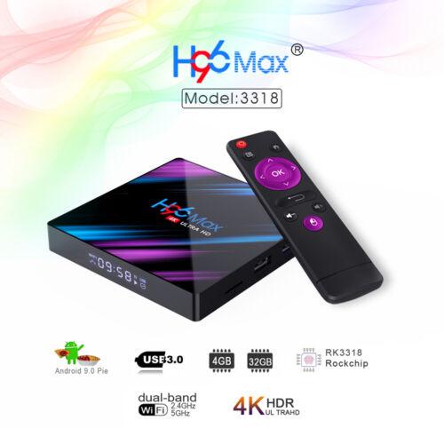 H96 Max Android 9.0 TV Box 4GB 32GB Quad Core 64 Bit 4K VP9 H.265 2.4G EU Plug