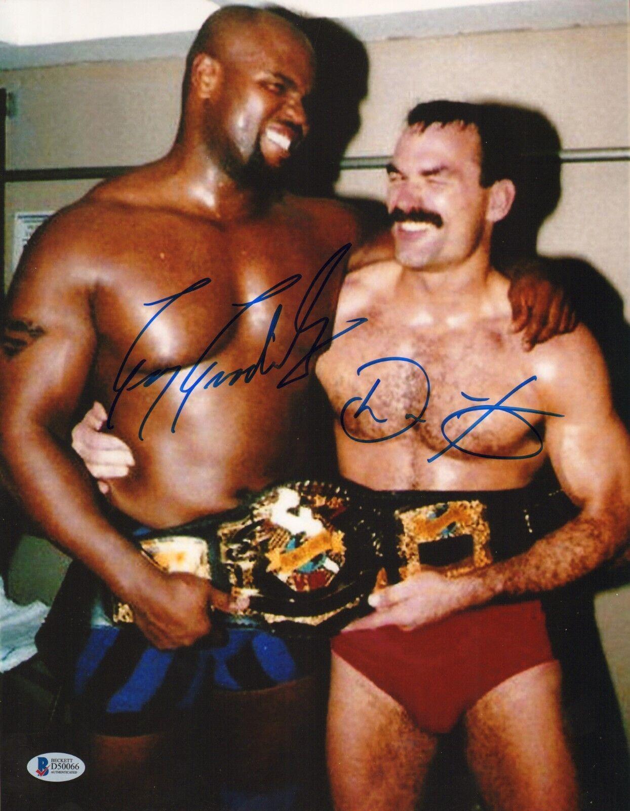 Don Frye & Gary Goodridge Firmado 11x14 Foto Bas Beckett COA UFC 8 Imagen Auto