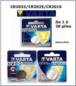Pile-battery-bouton-Varta-3V-Lithium-CR2032-CR2025-CR2016-EXP-2027