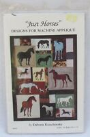 Just Horses Designs For Machine Applique Quilt Pattern By Debora Konchinsky