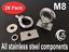 Eye bolt tie down kit for T /& C Rhino Thule Yakima Pro Rola roof rack M8 X2