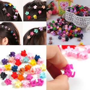 30PCS-Kids-Baby-Girls-Candy-Color-Hairpins-Mini-Claw-Hair-Clips-Clamp-Flower-New