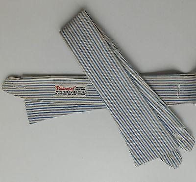 "Trubenised striped shirt collars size 16"" vintage 1940s 1950s UNUSED Semi-stif"