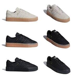 Details about Adidas Originals Sambarose Samba Rose Women W Black Brown Platform Fashion Shoes