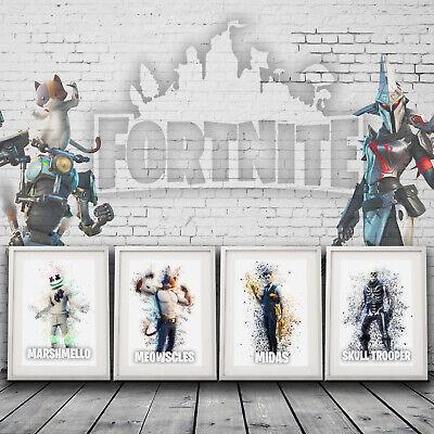 Fortnite Print,A4 posted print Teen Room Decor,Boys room decor,chosen print only