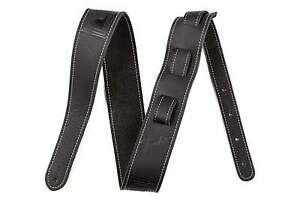 Genuine-Fender-2-25-034-Monogram-Black-Leather-Guitar-Strap-099-0681-006