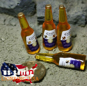 4 x 1/6 Bottles of Corona Beer For Hot Toys Kumik Phicen Stage Property USA❶