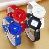 New Fashion Women Crystal Leather Band Quartz Analog Wrist Watch Xmas Gift