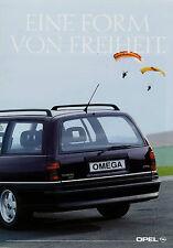 Opel Prospekt 9/90 1990 Autoprospekt Omega Kadett Caravan Cabrio GSi brochure