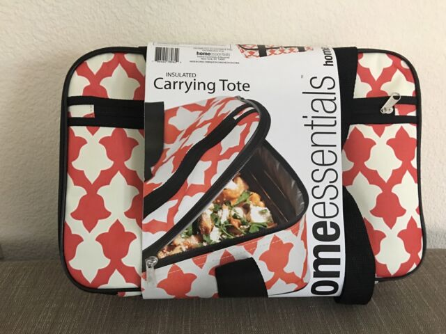 New Home Essentials Carrying Insulated Rectangle Casserole Portable Tote  Bag 16