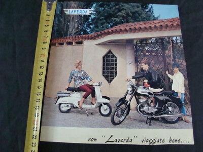 Entusiasta Pubblicita' Moto Laverda 200 Bicilindrico E Scooter 1 Pagina Vintage Old Bike