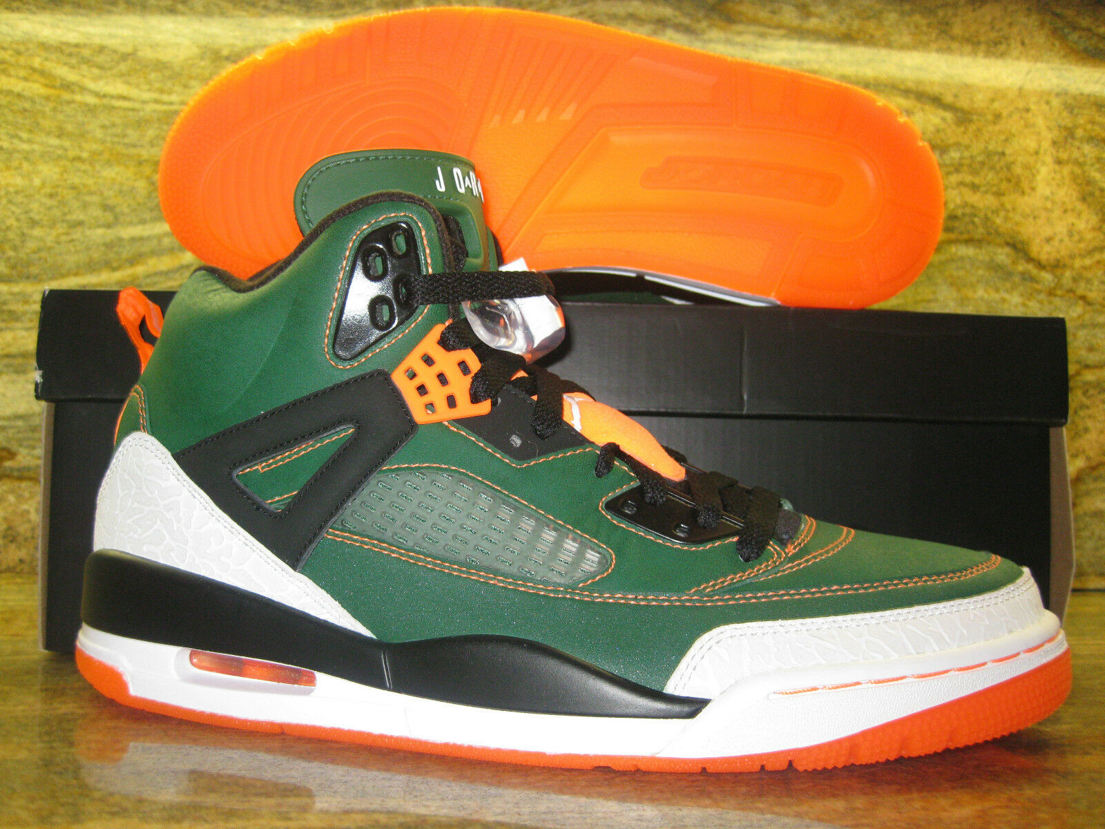 Nike Air Jordan Spizike Promo Sample SZ 8 UM University of Miami PE SoleFly Sole