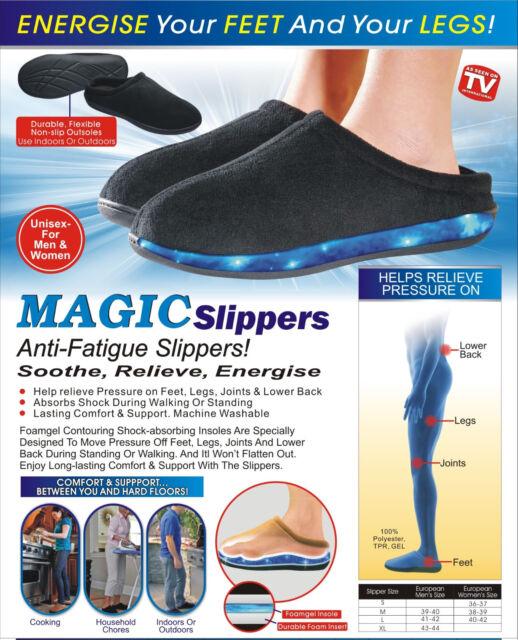 Memory Foam Unisex Anti Fatigue Slippers Size 6-12 New Memory Foam Slipper