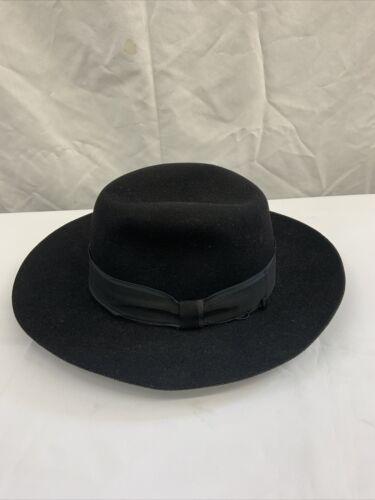 BORSALINO MEN'S BLACK FELT WIDE BRIM HAT #10