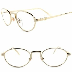 2f2d8e28316 Classic True 70s 80s Vintage Mens Womens Clear Lens Eye Glasses Gold ...