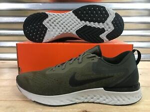 on sale 41696 4441c Image is loading Nike-Odyssey-React-Running-Shoes-Medium-Olive-Green-