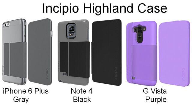sale retailer 144be dd849 Incipio Highland Ultra Thin Premium Folio Card Case for iPhone 6 Plus Grey