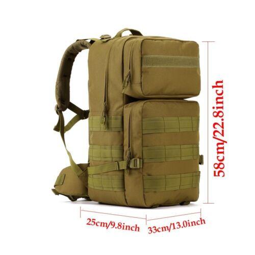 55L Tactical Backpack Military Rucksack Trekking Rucksack MOLLE Bag Big Capacity