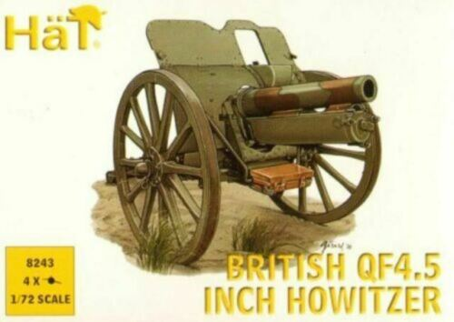 WWI  British QF4.5 inch Howitzer Soldatini 1//72 HAT 8243